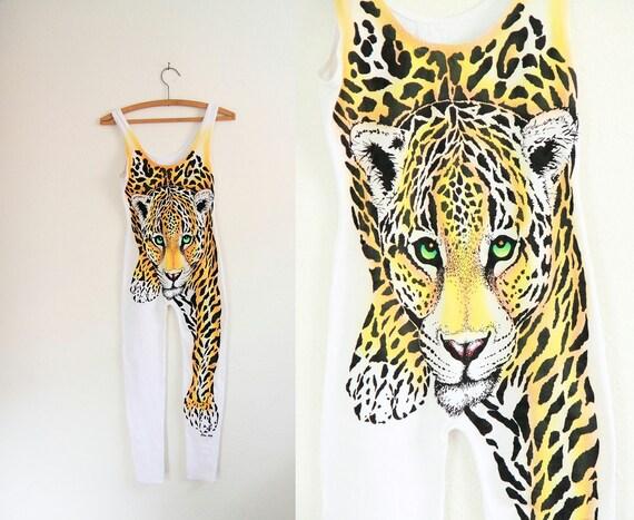 Amazing Vintage Frederick's of Hollywood Leopard Bodysuit ... S M