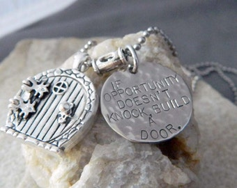 If Opportunity Doesn't Knock, Build a Door Necklace with Rounded Silver Door