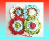 Crochet Flowers 4 piece
