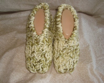 Women's Sumptuous Knitted Slippers Size 6, 7, or 8