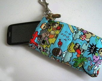 SPECIAL OFFERS Anime Kawaii Manga sleeve, case, pouch, stocking stuffers, for iPhone, Smartphone,MP3 player, iPod, Blackberry/ CYAN