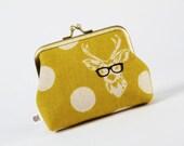 Deep dad - Echino Buck in yellow - metal frame purse
