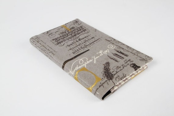 Card holder Queen size - Grey handwriting