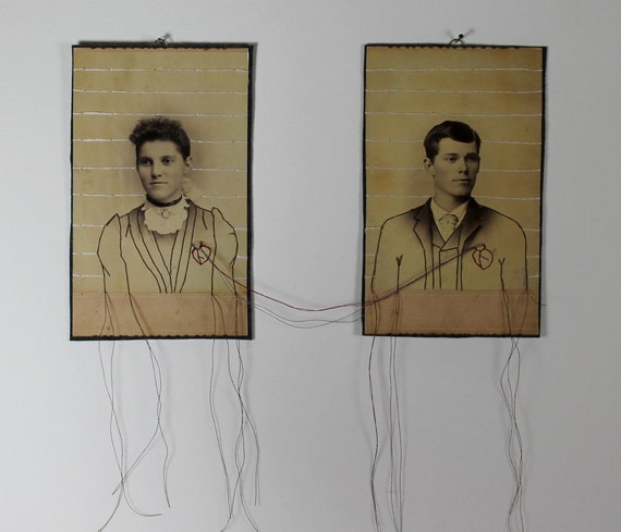 embroidered cabinet card no.27