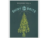 Wishing You a Shiny Brite Christmas - Download Print-Your-Own 8.5 x 11 Poster