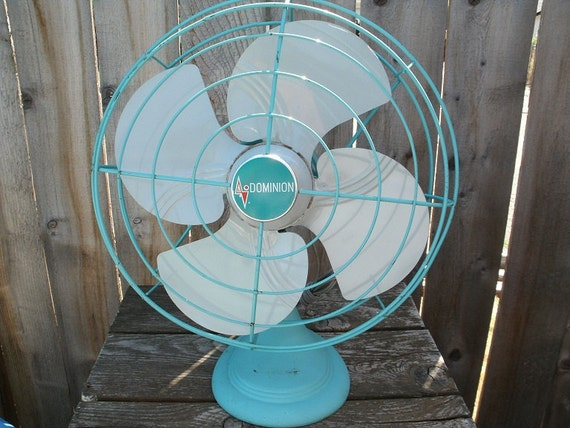 Vintage Dominion Oscillating Electric Fan
