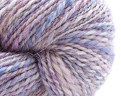 Lilac, HandSpun and Hand dyed Alpaca Yarn, dk/ worsted, 2ply, 220 yards