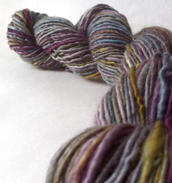 Pick Your Poison - handspun yarn, Aran weight