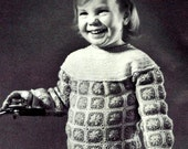 Afghan Granny Square Pullover Crochet Pattern 723130