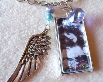 Ragamuffin necklace, Vintage Winged Sweetness, No.58