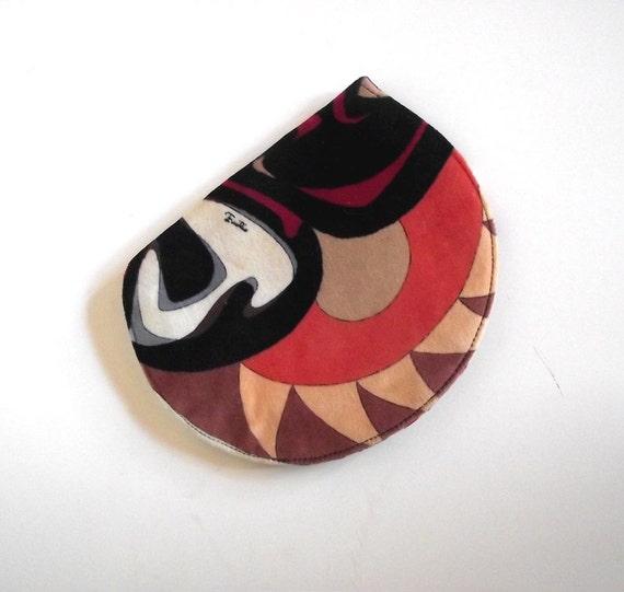 Emilio Pucci Small Clutch. Make Up Bag. Signature Swirl Velvet