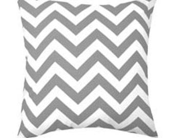 Premier Prints Grey Zig Zag Chevron Outdoor Throw Pillow - Free Shipping