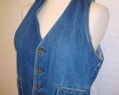 1970s Denim Vest Vintage Farah Jean