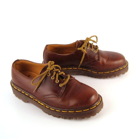doc martens oxfords vintage 1990 dr brown by. Black Bedroom Furniture Sets. Home Design Ideas