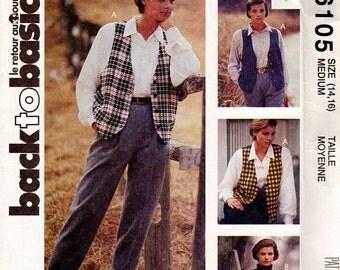Vintage McCalls Sewing Pattern Oversized Vest, 6105