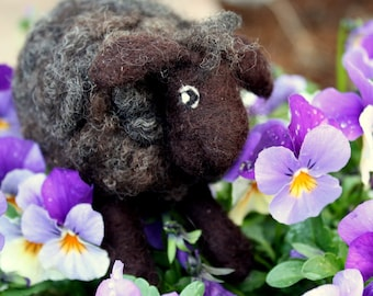 "Needle Felted Wool Sheep ""HENRY""~Handmade"