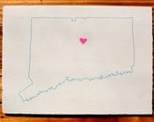 I Heart Connecticut Blank Greeting Card