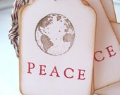 Joy to the World, Peace on Earth Christmas Gift Tags