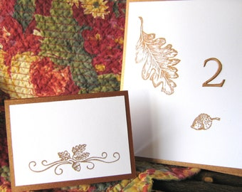 Fall Acorn Place cards, Fall Placecards, Fall Escort Cards, Autumn Leaves, Thanksgiving Place cards
