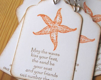 Starfish Gift Tags, Sea Star Gift Tags