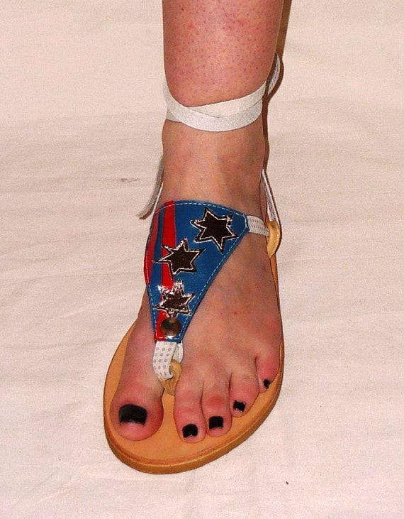 Leather Sandal - My Pick - Attachment- Stars and stripes