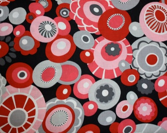 Olympia in Gray/Red by Alexander Henry - 1 Yard