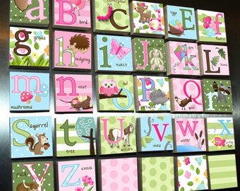 Girl's Nature Owl Alphabet Magnets Learn Your ABC's MG0005