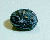 Black cat, jewelry, cat ring, animal ring, adjustable rings, cat lover, crazy cat lady, fashion, gift for her, gift under 25, painted rock