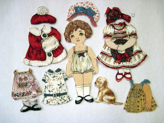 Victorian Fabric  Paper Doll with  outfits (Hope)
