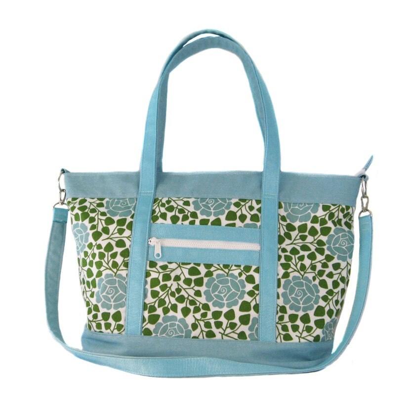 sale priced beach bag diaper bag carry on teal rose. Black Bedroom Furniture Sets. Home Design Ideas