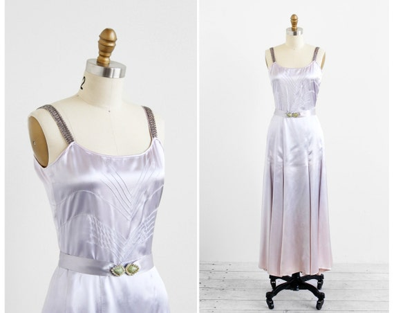 Slipper Satin Evening Gown from 1930s from Rococo Vintage