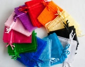 24 Organza Bags 6x9 inch, 2 of each of 12 colors