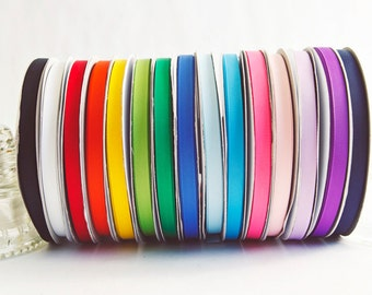 Rainbow Grosgrain Ribbon 50 yds. Spool, 15 colors to chose from, 3/8ths inch wide