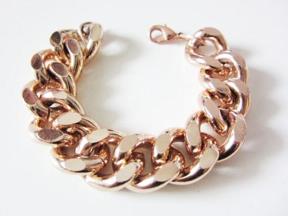 ER 9mm Cool Chunky Gold Chain Bracelet Biker Stainless
