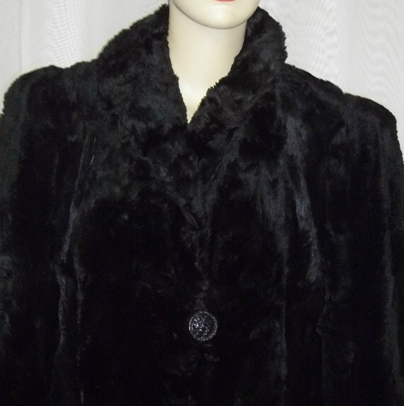 Vintage Hudson Seal Fur Jacket Coat Car Length by ShonnasVintage