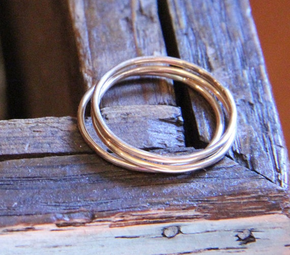 Three Everyday Gold Filled Stacking Rings- Free Shipping