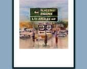 Father's Day Special - Route 66 - Arizona - LA - Way Cool Metallic Print, 11 x 14