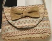 CLearance  Santa Fe Striped Mini Bow Bag w/ Single strap and Leather Bow -Ready to ship