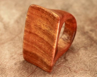 Size 8.25 - Osage Orange Wood Ring No. 44 (10-30-2012)