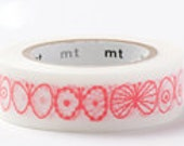 mt Washi Masking Tape - Coral Pink Butterfly - mina perhonen