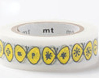mt Washi Masking Tape - Yellow Butterfly - mina perhonen