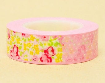 Funtape Masking Tape - Flowers in Pink