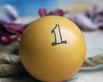 1...  vintage resin or bakelite billard ball...    Jul 10