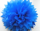 "16"" Royal Blue Tissue Pom Pom Party Decoration"