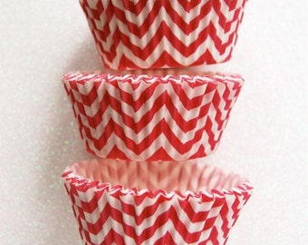 Hot Pink Chevron ZigZag Cupcake Liners Standard Size 50 per pack