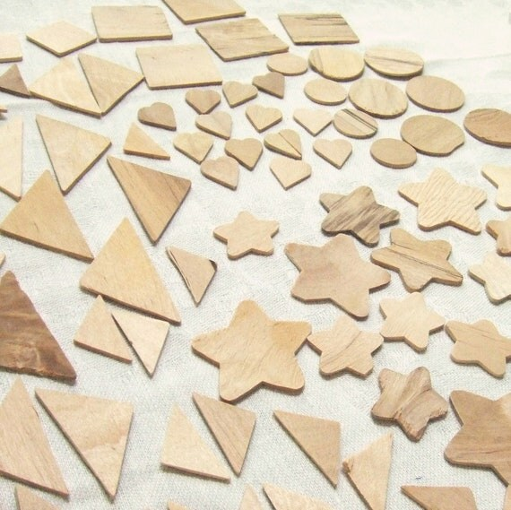 Mixed Wood Shapes 140 Pieces