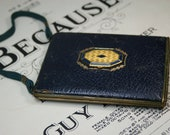 Vintage Goldtone and Faux Leather Compact-Purse
