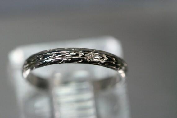 Vintage 14k White Gold Ring-  Childs Ring