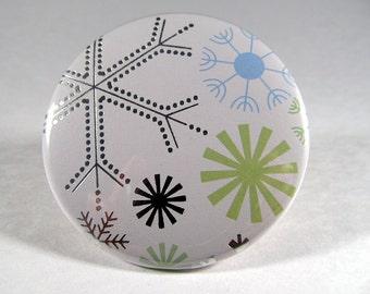 Snowflake winter mirror