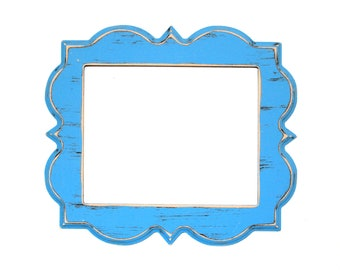 Whimsical Picture Frame 16x16 or 16x20 Shabby whimsical photo picture frame wedding nursery frame